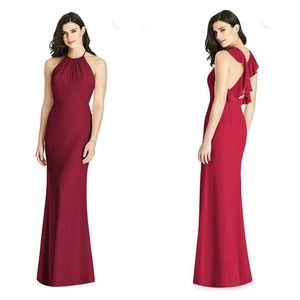 Dressy Collection Ruffle Sleeves Maxi Dress Red 2